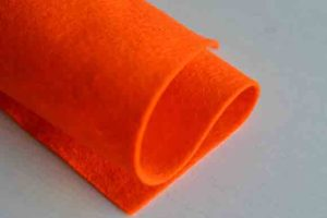Wool Felt Dark Orange