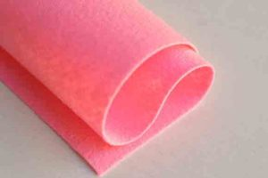 Wool Felt Shocking Pink
