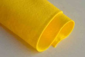 Wool Felt Yellow
